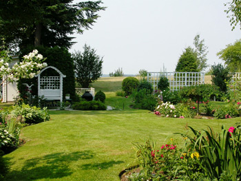 Enjoy the Backyard at Ridgeview Gardens Bed and Breakfast